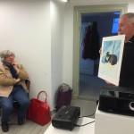 Svenerik Jakobson berättade bla om sitt konstnärliga arbete på Grönland den 19/4 för Målargruppen