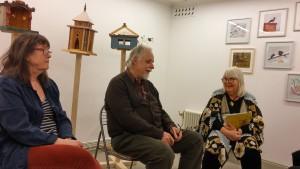 Konstnärssamtal med fr v. Anna Bengtsson, Thomas Tidholm, Madeleine Engfeldt-Julin