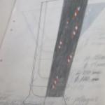 En bland Gun Lindblads många glasskisser, denna för Kosta Boda AB