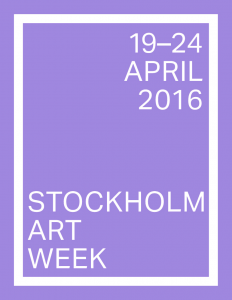 Stockholm Art Week 19-24 april 2016