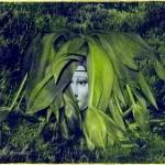 Margareta Röstin.  I det gröna. (beskuren)