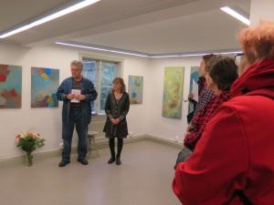 Ordförande i HKK inviger den retrospektiva utställningen över Peter Olssons verk