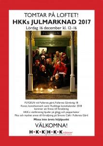 poster - julmarknad - 16 december 2017